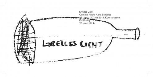 Korrigierter Entwurf !!! Cornelia Adam, Anna Schoelss - Einladung Kunstarkaden (99x210mm)